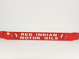 RED INDIAN MOTOR OIlS METAl PUSHBAR   DECAlS  NEW