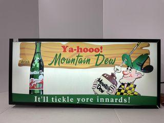 MOUNTAIN DEW YA HOO lIGHTED BOX SIGN