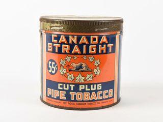 CANADA STRAIGHT CIGARETTE TOBACCO 55 CENT CAN