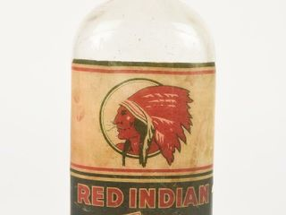 RARE WAR TIME IMPERIAl QUART RED INDIAN OIl BOTTlE