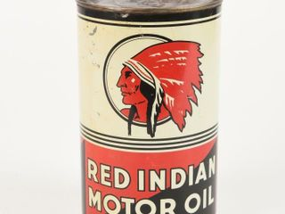 RED INDIAN MOTOR OIl IMPERIAl QUART CAN