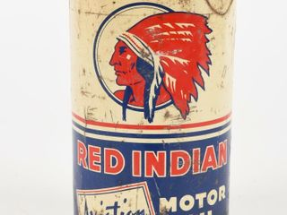 RED INDIAN AVIATION MOTOR OIl IMP  QT  CAN