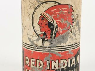 RARE RED INDIAN MOTOR OIl IMP  QT  CAN