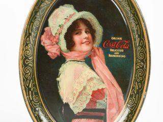 1914 DRINK COCA COlA  BETTY  TIN CHANGE TRAY