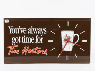 ORIGINAl TIM HORTONS BATTERY OPERATED ClOCK