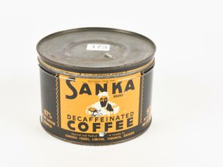 SANKA DECAFFEINATED COFFEE ONE POUND CAN