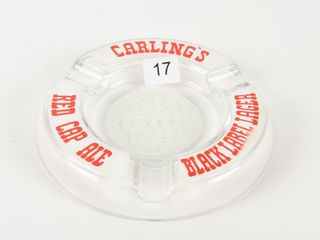 CARlING OlD TAVERN lAGER GlASS ASHTRAY
