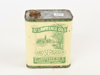 ST  lAWRENCE OIlS HAND SEPARATOR QUART CAN