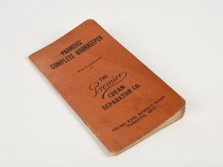 1907 PREMIER CREAM SEPARATOR FARMERS BOOKEEPER