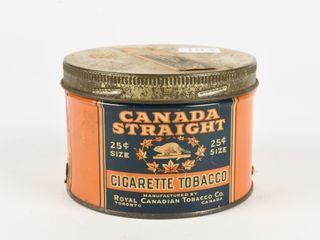 CANADA STRAIGHT CIGARETTE TOBACCO CAN