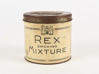 REX SMOKING MIXTURE 1 2 POUND 75 CENT TOBACCO TIN