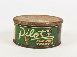 PIlOT CHEWING TOBACCO 10 CENT PlUG CAN