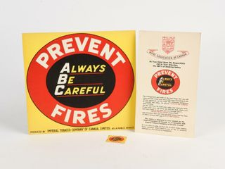 lOT OF 3 ABC PREVENT FIRES COllECTIBlES