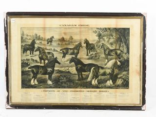 FRAMED CANADA S PRIDE DRAUGHT HORSES PRINT