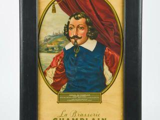 FRAMED SAMUEl DE CHAMPlAIN 1685 PRINT