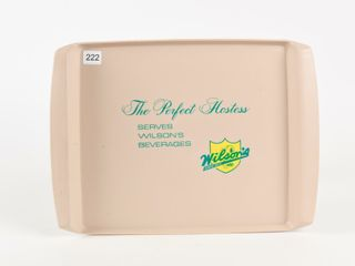WIlSON S BEVERAGES SINCE 1875 POlYSAR SERVING TRAY