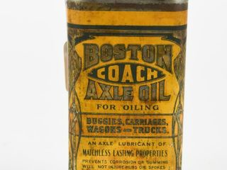 EARlY 1900 S BOSTON COACH AXlE OIl CAN