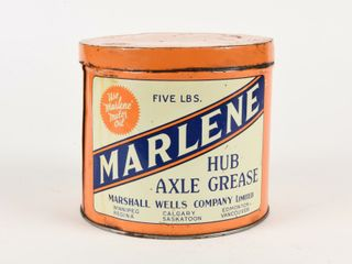 VINTAGE MARlENE FIVE lBS  HUB AXlE GREASE CAN