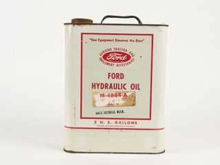 FORD HYDRAUlIC OIl SAE 80 2 U S  GAllONS CAN
