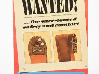 WANTED CAT S PAW HEElS   SOlES CARDBOARD ADV