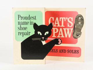 CAT S PAW HEElS   SOlES 3 D CARDBOARD ADVERTISING