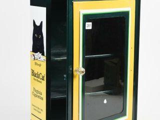 METAl 3 SHElF CABINET  REPAINT TO BlACK CAT