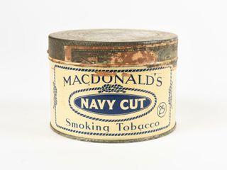 MACDONAlD S NAVY CUT TOBACCO 25 CENT CAN