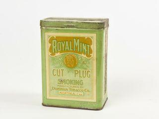 ROYAl MINT CUT PlUG SMOKING TOBACCO 1 2 lB  CAN