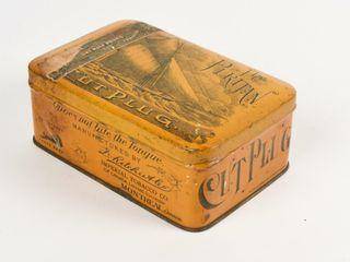 THE PURITAN CUT PlUG ONE HAlF POUND STRONG BOX