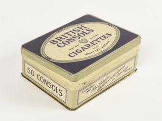 BRITISH CONSOlS CIGARETTES SHORT 50 S