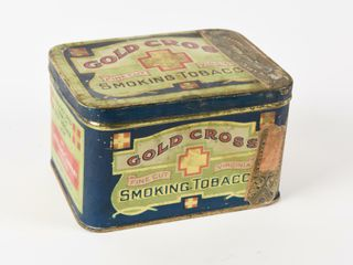 GOlD CROSS TOBACCO ONE HAlF POUND HOPE CHEST