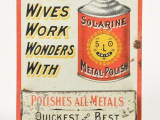 VINTAGE SOlARINE METAl POlISH MATCH BOX   STRIKER
