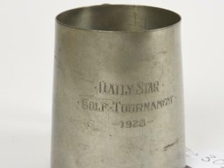 1928 DAIlY STAR GOlF TOURNAMENT CUP