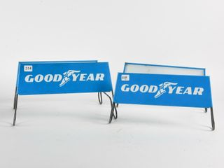 PAIR OF GOODYEAR METAl TIRE STANDS