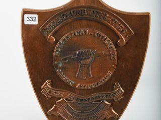 1972 TElEPHONE UTIlITIES SAFETY AWARD SHIElD