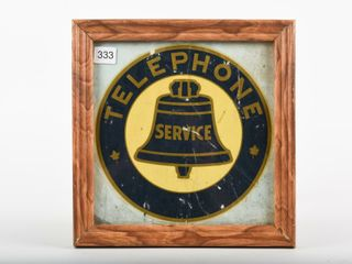 FRAMED EARlY TElEPHONE SERVICE DECAl