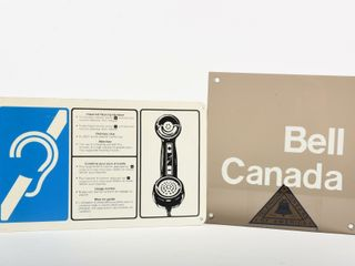 lOT OF 2 BEll CANADA PIONEER   HEARING SIGNS