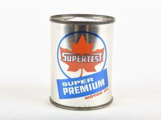 SUPERTEST SUPER PREMIUM OIl CAN ADV  COIN BANK