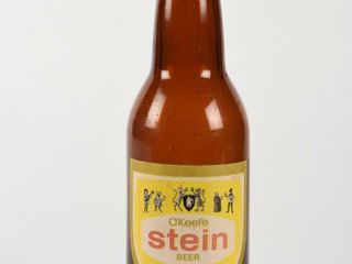 O KEEFE STEIN BEER 12 OUNCES AMBER BOTTlE