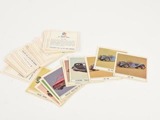 lOT 42 B A BlUE ORANGE  GAllERY OF GREAT CAR CARDS