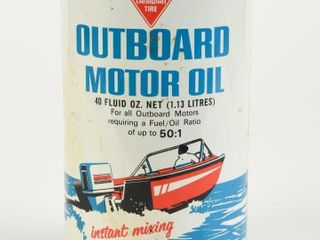 CANADIAN TIRE OUTBOARD MOTOR OIl 40 OZ  CAN FUll