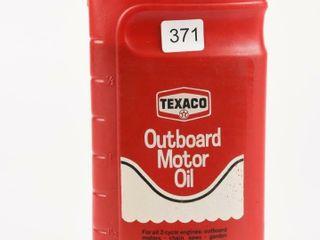 TEXACO OUTBOARD MOTOR OIl IMP  QUART CONTAINER