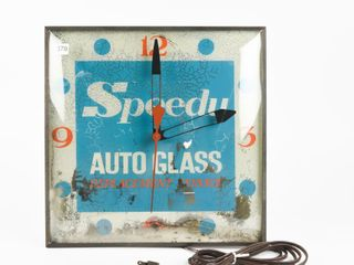 SPEEDY AUTO GlASS ElECTRIC ClOCK