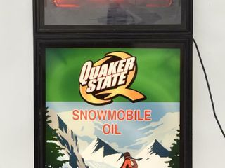 NEON SPECIAl QUAKER STATE SNOWMOBIlE OIl SIGN