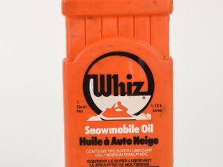 RARE WHIZ SNOWMOBIlE OIl IMP  QUART CONTAINER