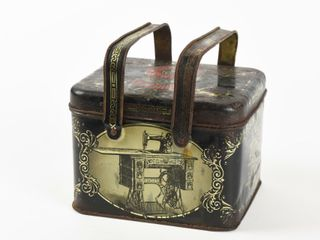 RARE SINGER SEWING MACHINES TIN lITHO lUNCH BOX