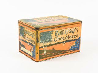 ROBERTSON S CHOCOlATES ADVERTISING TIN
