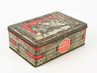 RIlEY S RUM   BUTTER TOFFEE TIN lITHO POUND BOX