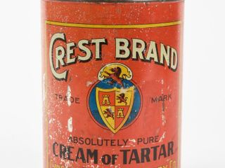 VINTAGE CREST BRAND CREAM OF TARTAR TIN