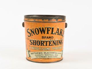 VINTAGE SNOWFlAKE SHORTENING 3 lBS  PAIl   NO lID